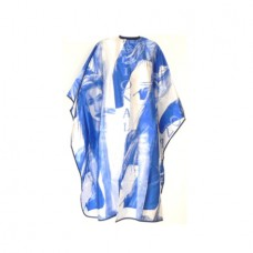 Пеньюар (накидка) для стрижки Fashional Hair синий