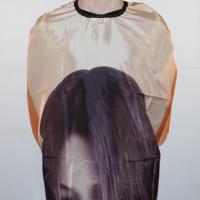 Пеньюар (накидка) для стрижки Girl оранжевый