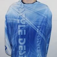 Пеньюар (накидка) для стрижки HairStyle Desien синий