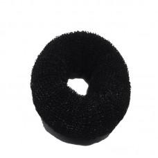 Валик для причесок круглый черный