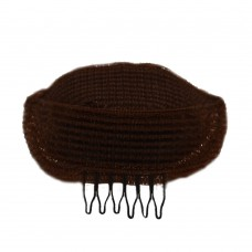 Валик для причесок коричневый с гребешком