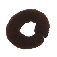 Валик для причесок с сеткой коричневый, 25 см