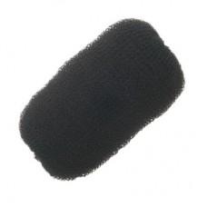 Валик для причесок большой черный, 12 см