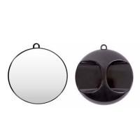 Зеркало круглое черное FORTRESS 28 см