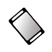 Зеркало прямоугольное FORTRESS 40x26 см