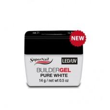 """Гель белый """"Super Nail"""", LED/ UV, BuilderGEL Pure White, 14ml."""