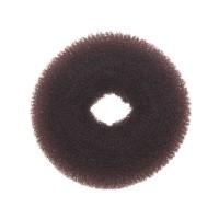 Валик для причесок круглый коричневый