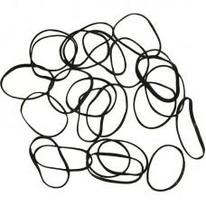 """Резинки черные """"DEWAL"""", mini, силиконовые, 100 штук"""