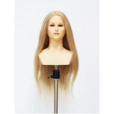 """Голова женская, """"OMC"""", 100% натуральные волосы, 50 см"""