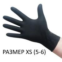 Перчатки одноразовые нитрил черные XS, 200 шт