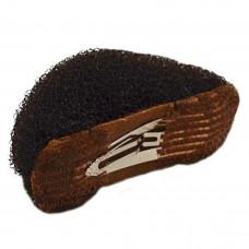 Валик для причесок POM POM коричневый с заколкой