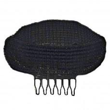 Валик для причесок UPDO с гребешком черный