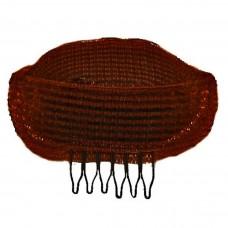 Валик для причесок UPDO с гребешком коричневый